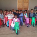 Children having fun while they improve motor skills and excercise