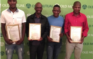 From left to right: (1st place: general worker – Raaswater); Ben Mahikanneng (1st place: Junior Management – Noupoort); Hendrik Moimang (3rd place: General Worker – Rooivlak); John Abrahams (2nd place general worker – Swartkop)